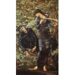 Puzzle  Dtoys-75024 Edward Burne-Jones: La Séduction de Merlin, 1872-1877