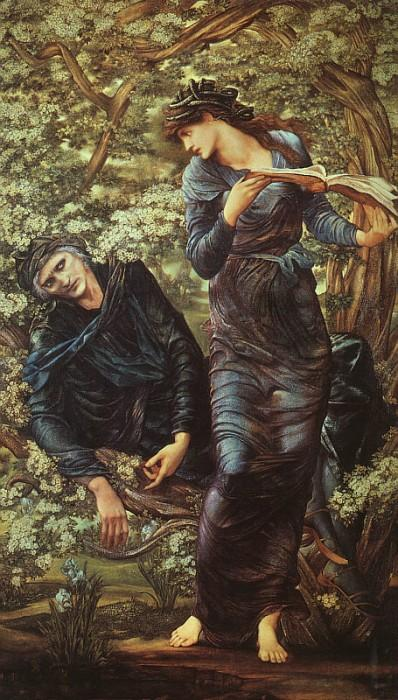 Puzzle Dtoys-75024 Edward Burne-Jones: La Séduction de Merlin, 1872-1877