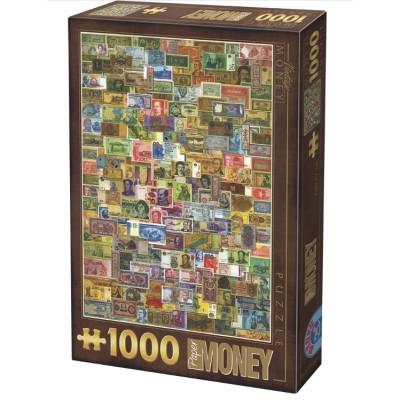 Puzzle Dtoys-75277 Vintage Collage - Billets de Banque