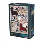 Puzzle  Dtoys-75314 Andrea Kürti - Farm Animals