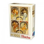 Puzzle  Dtoys-75895 Mucha - Arts