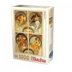 Puzzle  Dtoys-75895-MU10 Alfons Mucha