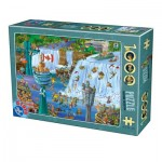 Puzzle  Dtoys-75932-CC14 Cartoon Collection - Niagara Falls