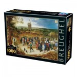 Puzzle  Dtoys-76854 Brueghel le Jeune - The marriage procession