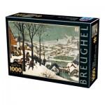 Puzzle  Dtoys-76878 Pieter Brueghel Le Vieux - Chasseurs dans la Neige