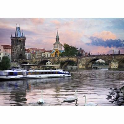 Puzzle DToys-77240 République Tchèque - Prague