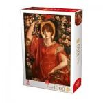 Puzzle   Dante Gabriel Rossetti - A Vision of Fiammetta