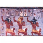 Puzzle   Egyptian Art - Ramses III on knee in front of the Gods