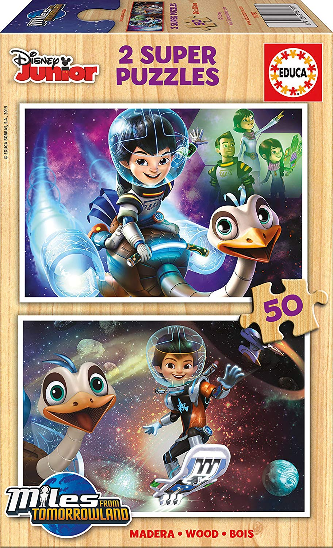2 Puzzles En Bois Disney Junior Educa 16797 50 Pieces Puzzles