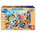 Educa-12002 Puzzle en Bois - La Famille Disney