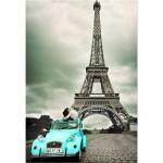 Puzzle  Educa-14845 Embrassade sous la Tour Eiffel, Paris