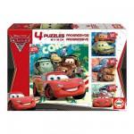 Educa-14942 4 Puzzles Progressifs - Cars 2
