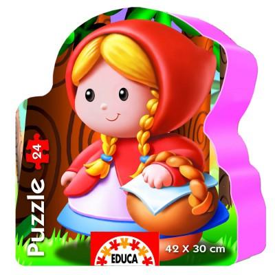 Educa-14962 Puzzle Forme - Le petit chaperon rouge