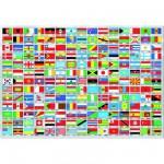 Puzzle  Educa-15530 Drapeaux du monde