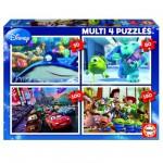 Educa-15615 Puzzles de 50 à 150 pièces : 4 puzzles : Pixar