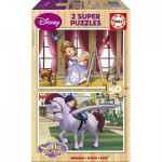 Educa-15915 2 Puzzles en Bois - Sofia the First