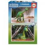 Educa-15930 2 Puzzles - Disney Pixar - The Good Dinosaur