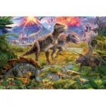 Puzzle  Educa-15969 Réunion de dinosaures