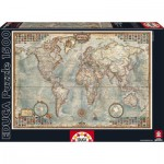 Puzzle  Educa-16005 Le Monde, Carte Politique