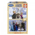 Educa-16163 2 Puzzles - La Reine des Neiges