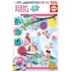 Educa-16738 Scrap Puzzle - Garden Art
