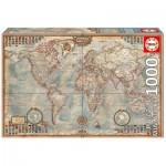 Puzzle  Educa-16764 Pièces Mini - Vieille Carte du Monde