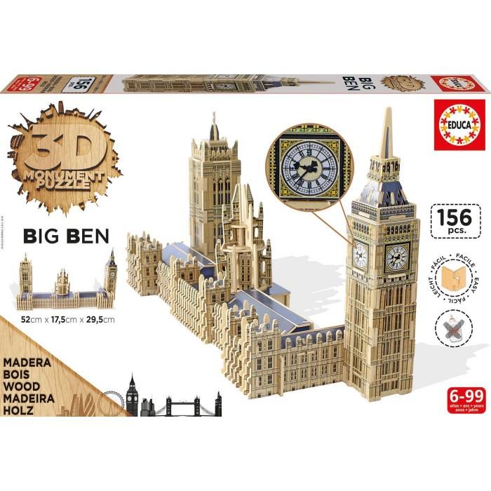 Puzzle 3D en Bois - Big Ben & Parliament