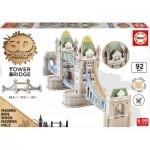 Educa-16999 Puzzle 3D en Bois - Tower Bridge