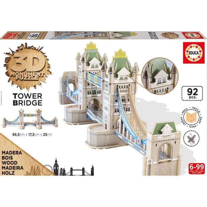 Puzzle 3D en Bois - Tower Bridge