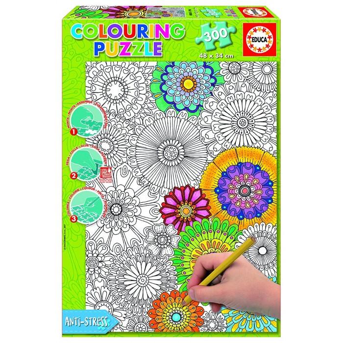 Puzzle à Colorier - Jolies Fleurs