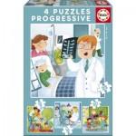 Educa-17146 4 Puzzles - Quand Je Serai Grand