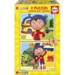 Educa-17159 2 Puzzles en Bois - Oui-Oui