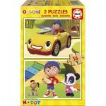 Educa-17160 2 Puzzles en Bois - Oui-Oui