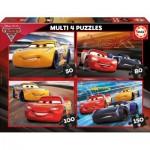 Educa-17179 4 Puzzles - Cars 3