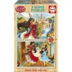 Educa-17235 2 Puzzles en Bois - Elena d'Avalor