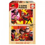 Educa-17626 Puzzle en Bois - Incredibles 2