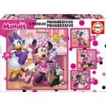 Educa-17630 4 Puzzles - Minnie