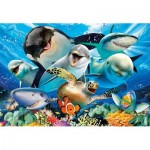 Puzzle  Educa-17647 Selfie sous la Mer