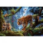 Puzzle  Educa-17662 Tigres dans les Arbres