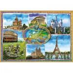 Puzzle  Educa-17667 Sept Merveilles de l'Europe