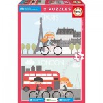 Puzzle  Educa-17726 Village d'Enfants