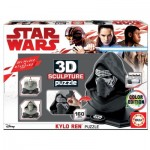 Educa-17802 Puzzle Sculpture 3D - Star Wars Kylo Ren