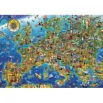 Puzzle  Educa-17962 Carte de l'Europe
