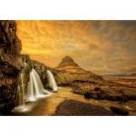 Puzzle  Educa-17971 Chute d'eau de Kirkjufellsfoss, Islande