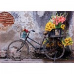 Puzzle  Educa-17988 Bicycle with flowers