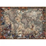Puzzle  Educa-18008 Carte du Monde Antique