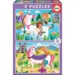 Puzzle  Educa-18064 Licornes