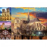 Puzzle  Educa-18456 Collage - Notre Dame de Paris