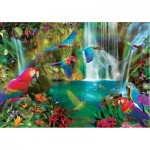 Puzzle  Educa-18457 Tropical Parrots
