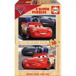 2 Puzzles en Bois - Cars
